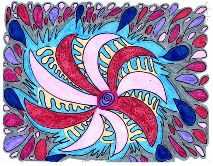 Gray Swirl ~ Doodle By Jeanine A Thriver