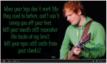 Ed Sheeran- Thinking Out Loud (Lyrics)