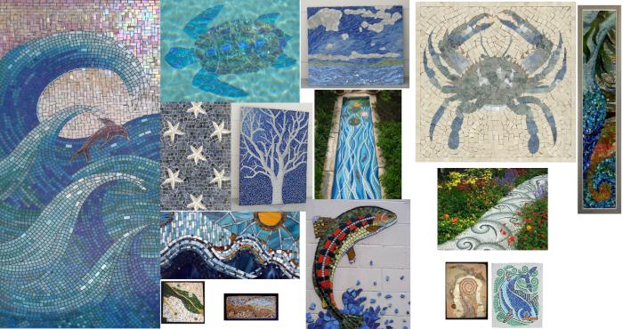 Water Mosaic Idea Board
